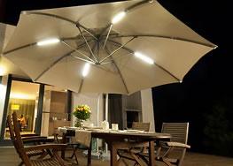 heizstrahler beleuchtung und regenrinnen zubeh r f r sonnenschirme gjk sonnen und werbeschirme. Black Bedroom Furniture Sets. Home Design Ideas